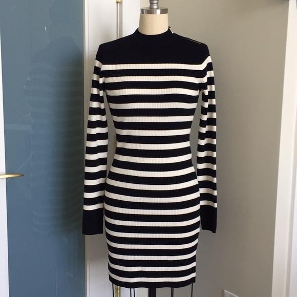 287dd2b5b869 Everlane Dresses & Skirts - Everlane Breton Ribbed Cotton Sweater Dress